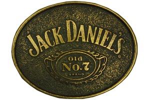 Boucle de ceinture Jack daniel's or vieilli