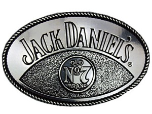 Boucle de ceinture Jack Daniel's couleur argent