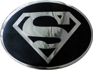 boucle de ceinture Superman noire ovale