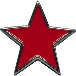 GI44 Boucle de ceinture étoile rouge