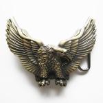 WE133 Boucle de ceinture aigle couleur antique bronze