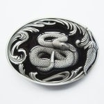 WE59 Boucle de ceinture serpent à sonnette noir